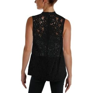 French Connection Lace Back Sleeveless Blouse NWT